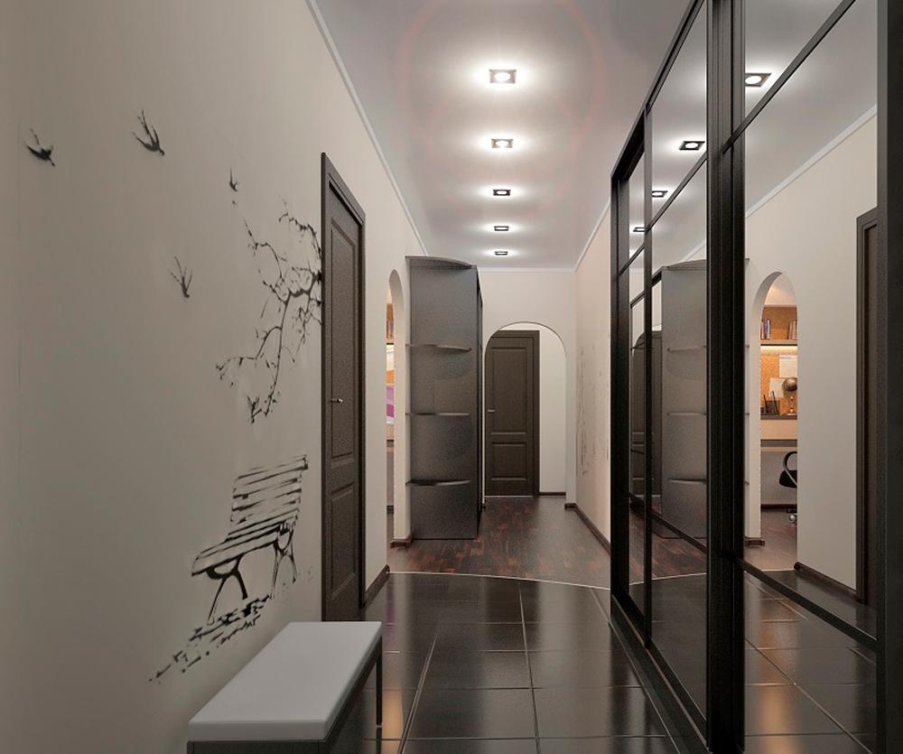 Ремонт в коридоре идеи фото длинный коридор