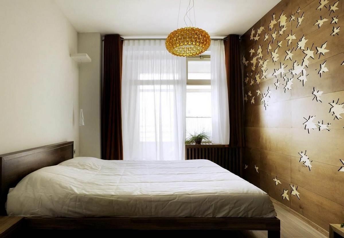 декор стен в спальне фото страшный
