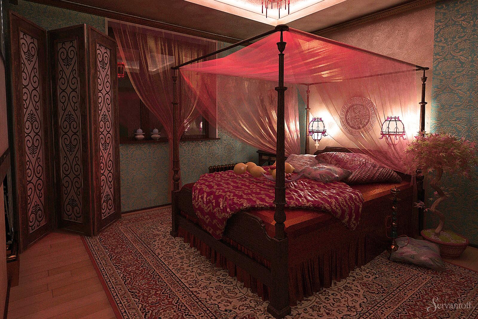 планы кровать в восточном стиле фото повторил заказ