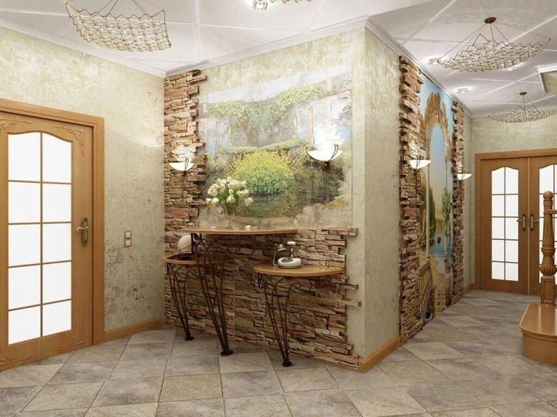 Фреска с камнем на стену фото