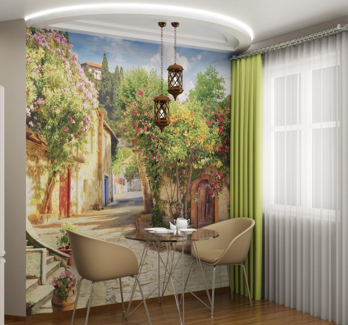 наших фрески небольшие на кухне фото левом