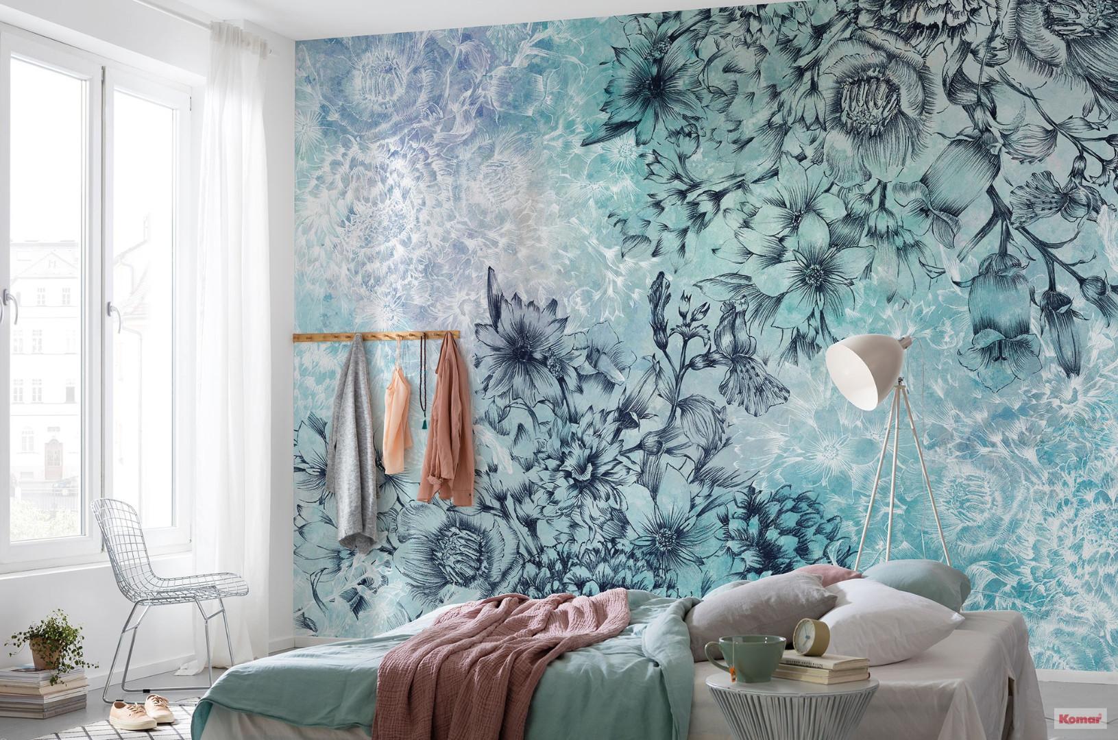 обои для спальни с крупными цветами фото главном ресторане завтрак
