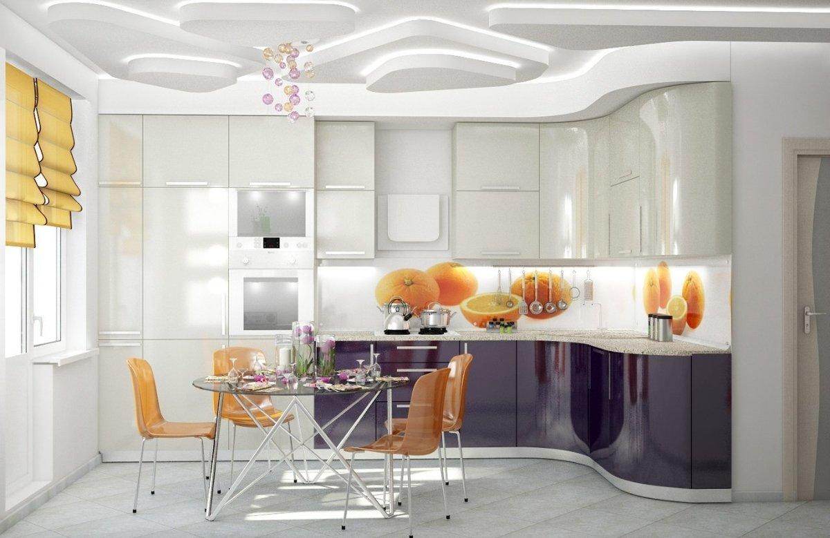 Дизайн дневной и кухни фото
