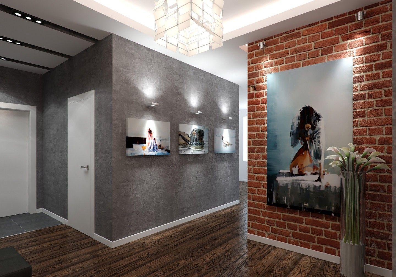 Как украсить оштукатуренную стену в коридоре фото