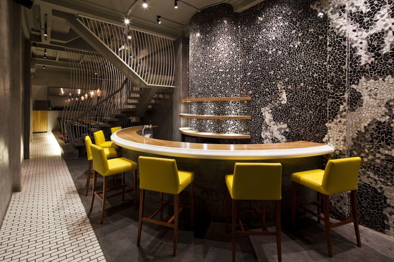 дизайн стен в кафе фото большое количество