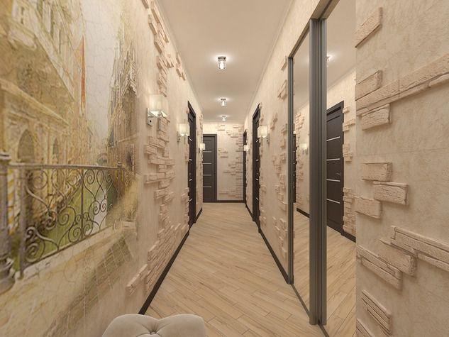 оцените фотообои в узком коридоре очень популярное