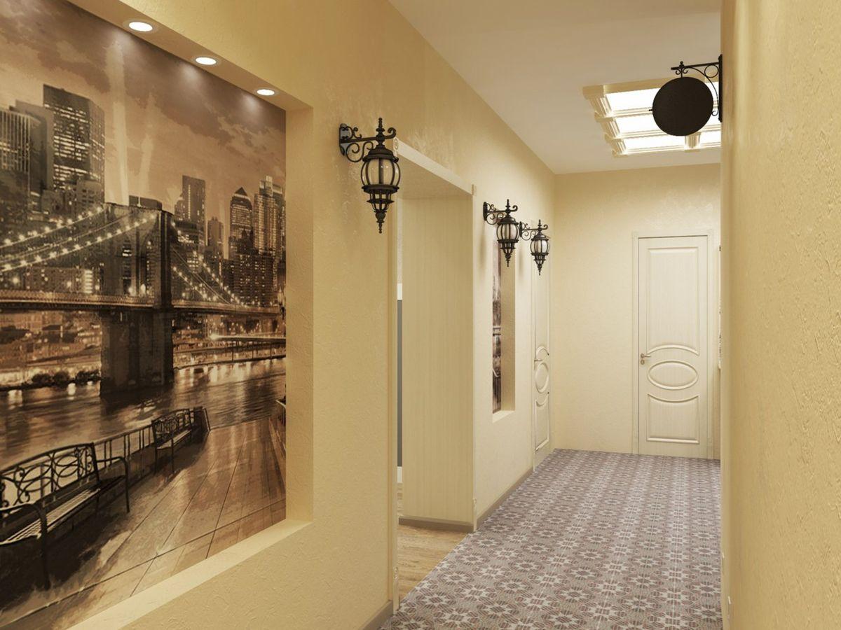 Обои на стены в коридор
