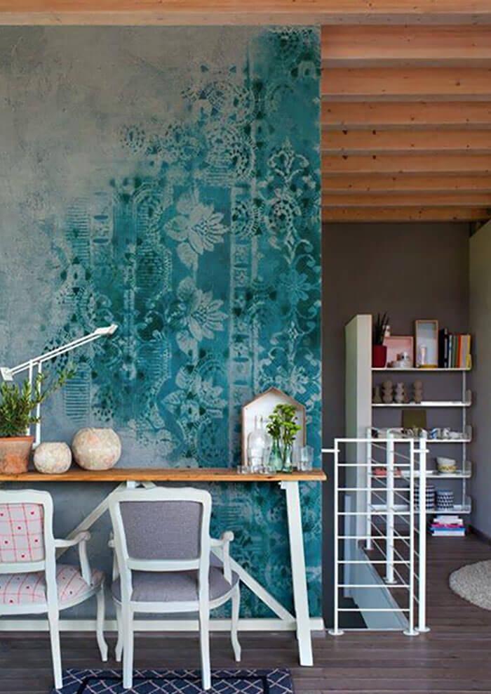 Покраска стен вместо обоев фото