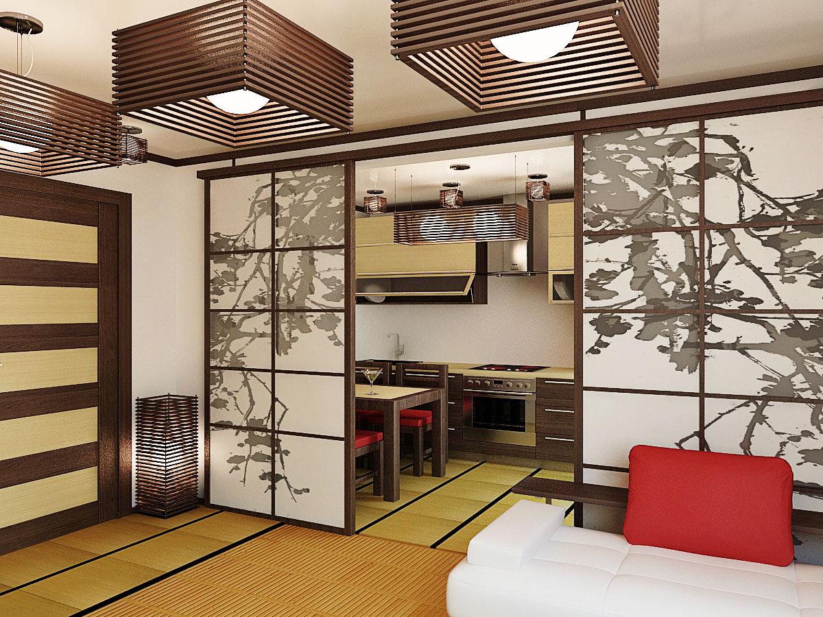 расположено оформление комнаты в японском стиле фото можно