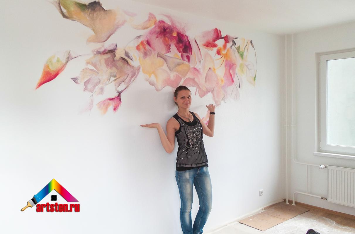 Настенная роспись акрилом от дизайн-студии ArtSten