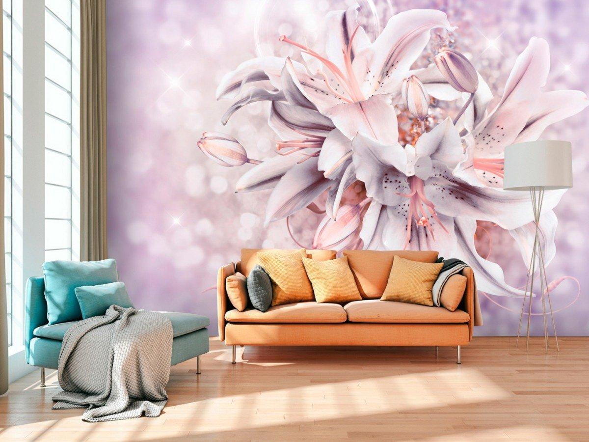 Фотообои на стену в спб цветы