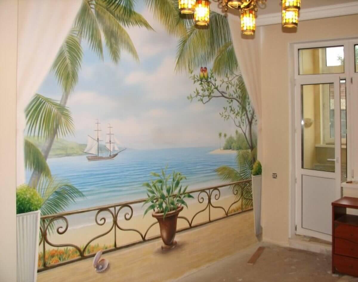 Живописная роспись стен-17