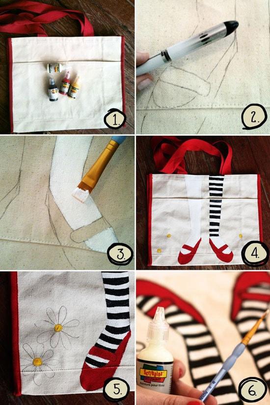 Мастер-класс: роспись сумки-1