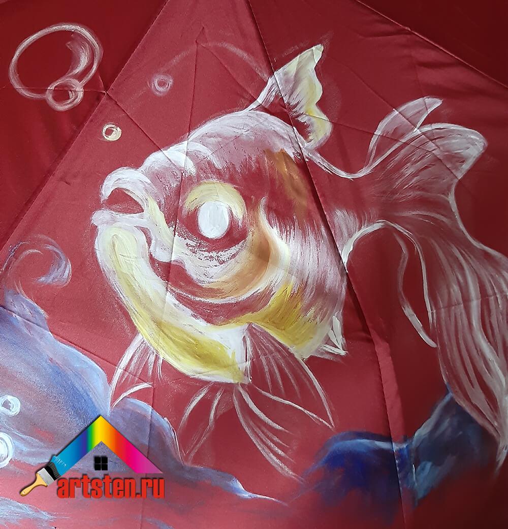 Роспись зонта своими руками-2