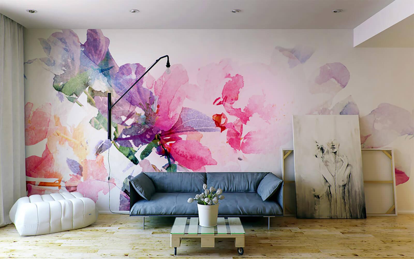 Акварельная роспись стен-14