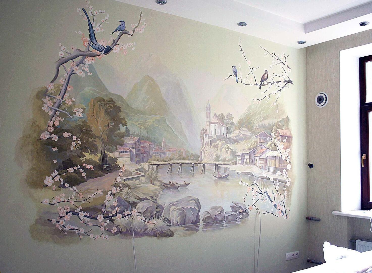 Живописная роспись стен-14