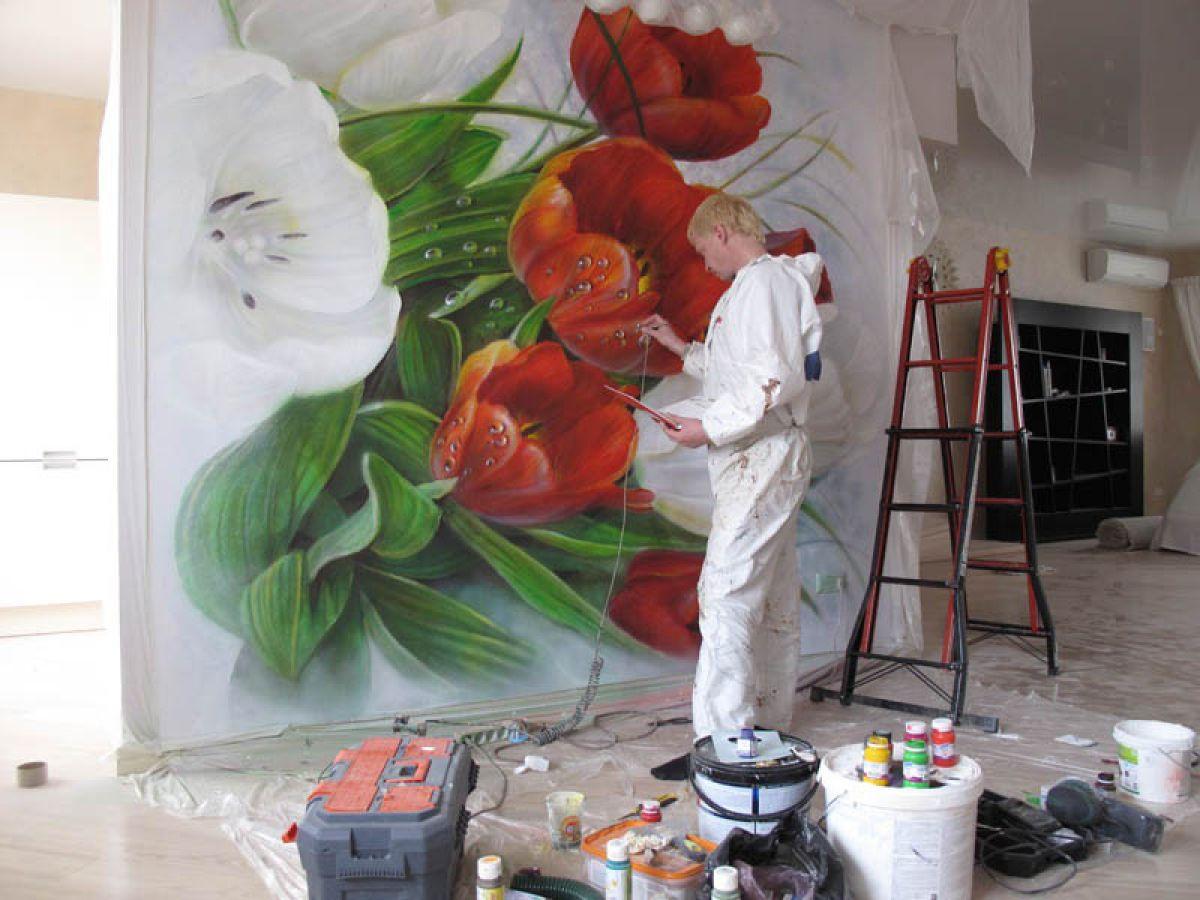 Материалы для росписи стен, которые пригодятся