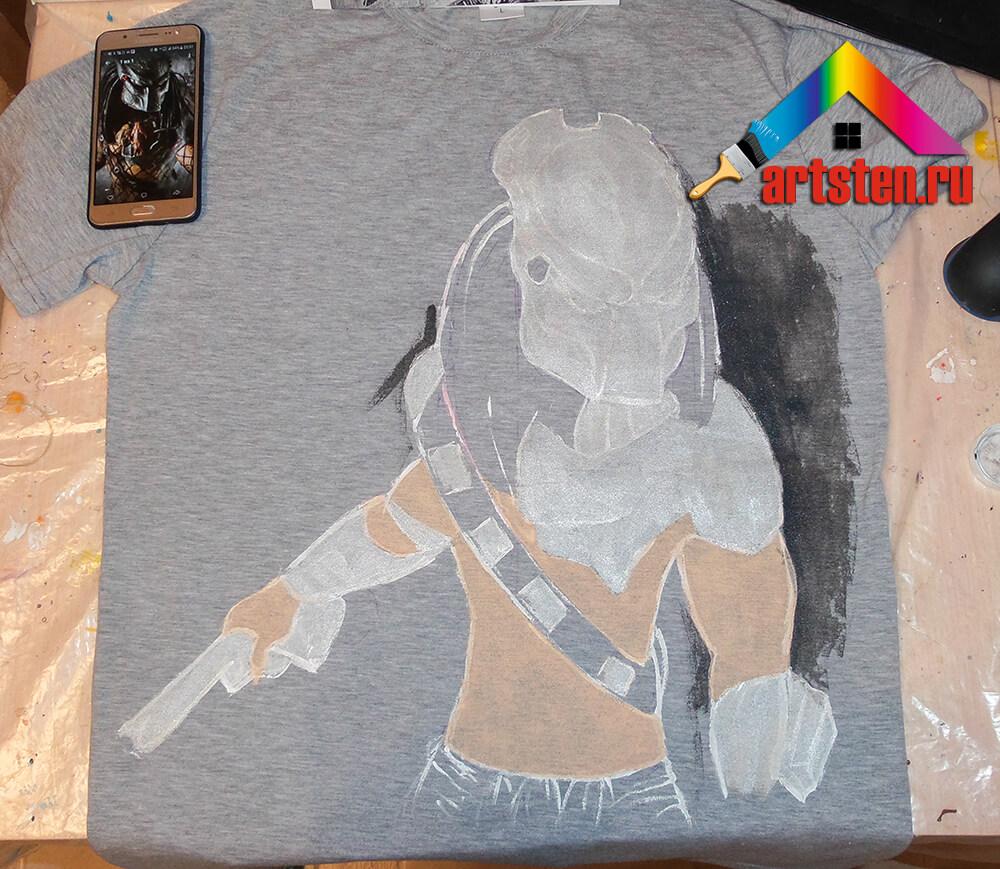 Мастер-класс- роспись футболки в спб-1