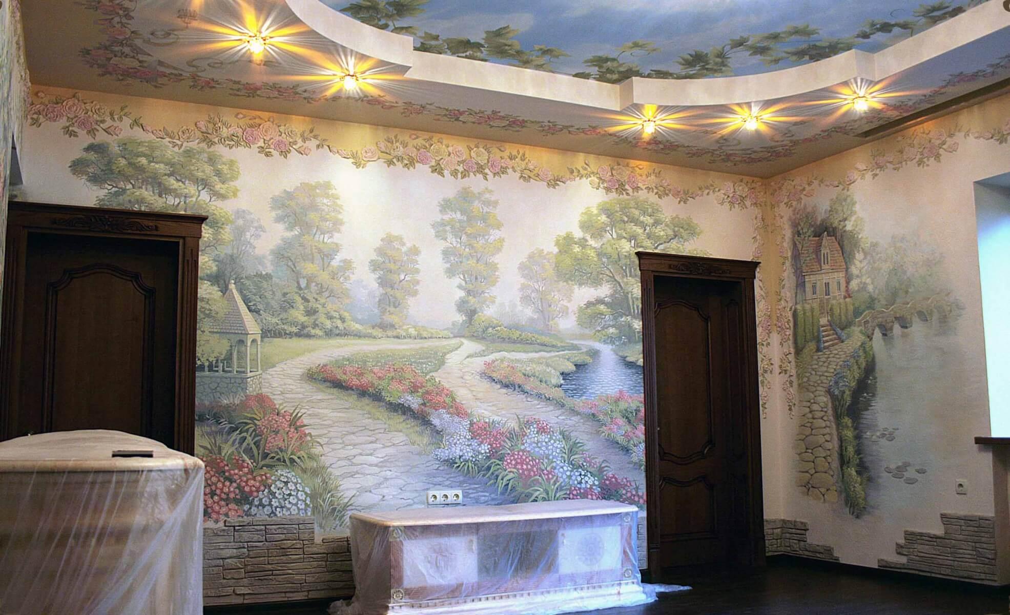 Реалистичная роспись стен-13