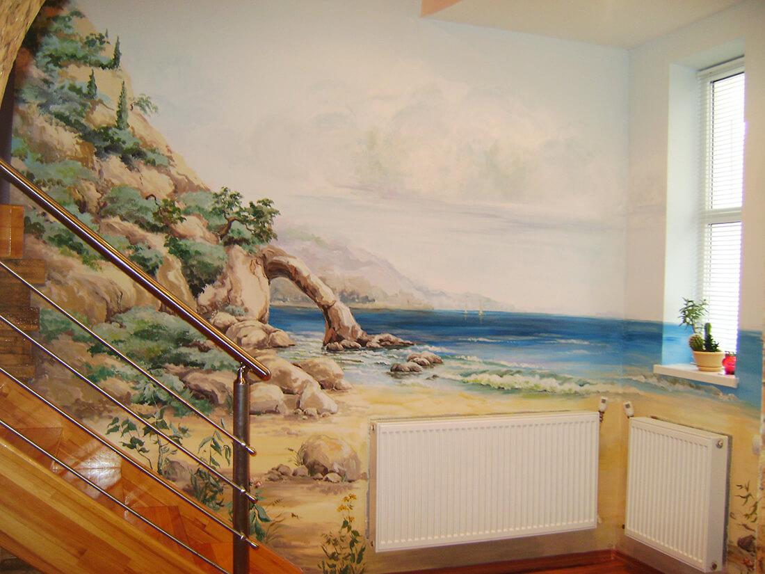 Реалистичная роспись стен-12