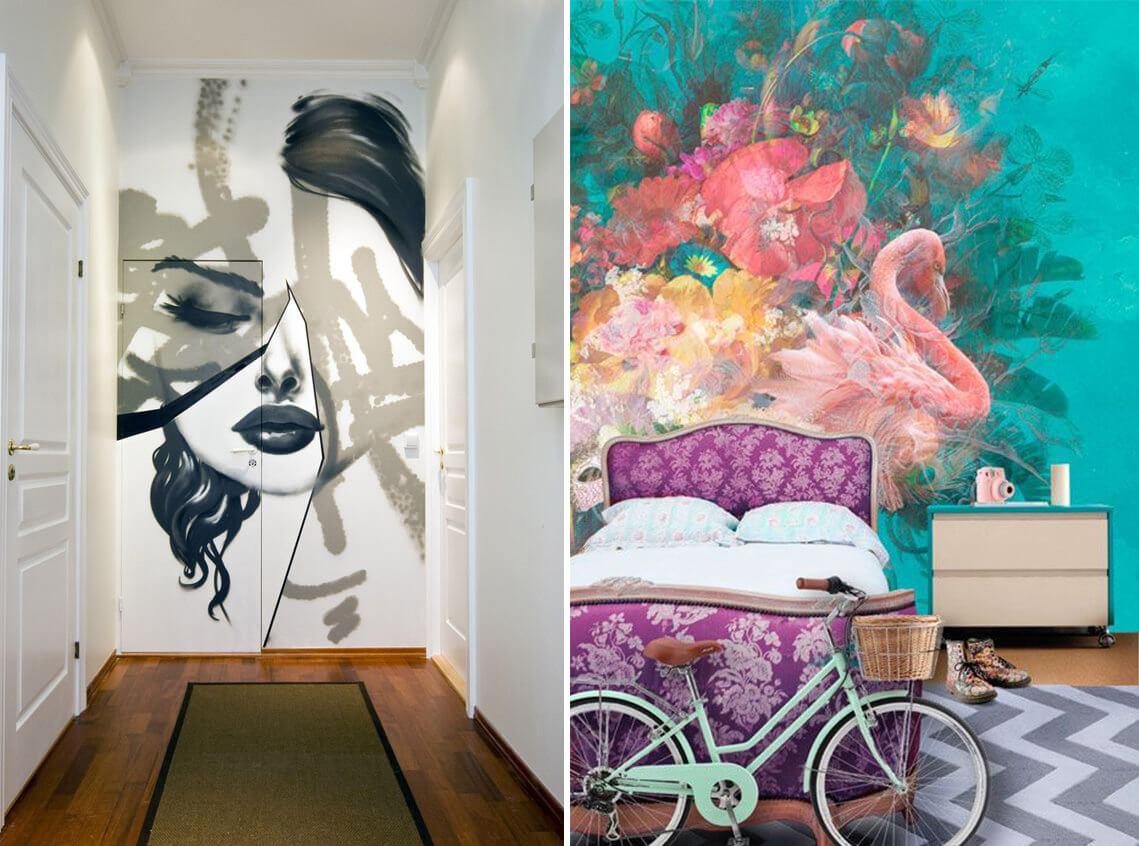 Нарисовать картинки на стену в комнату