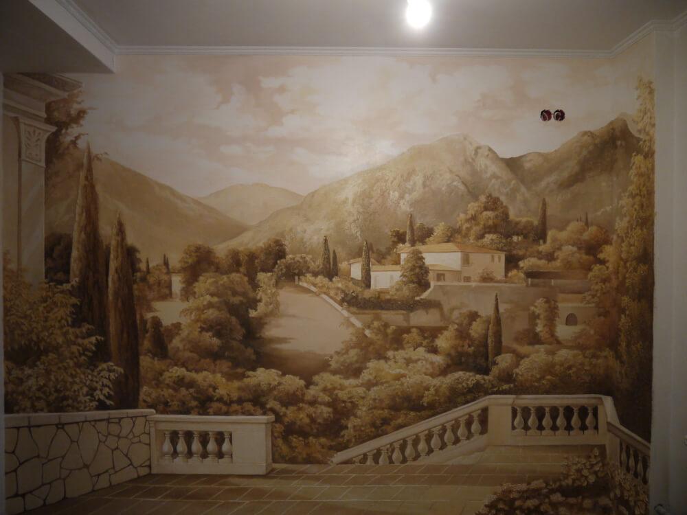 Роспись стен гризайль-3