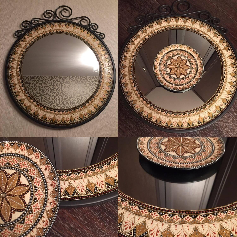Точечная роспись мебели-1