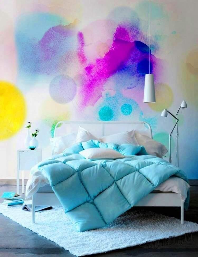 Акварельная покраска стен