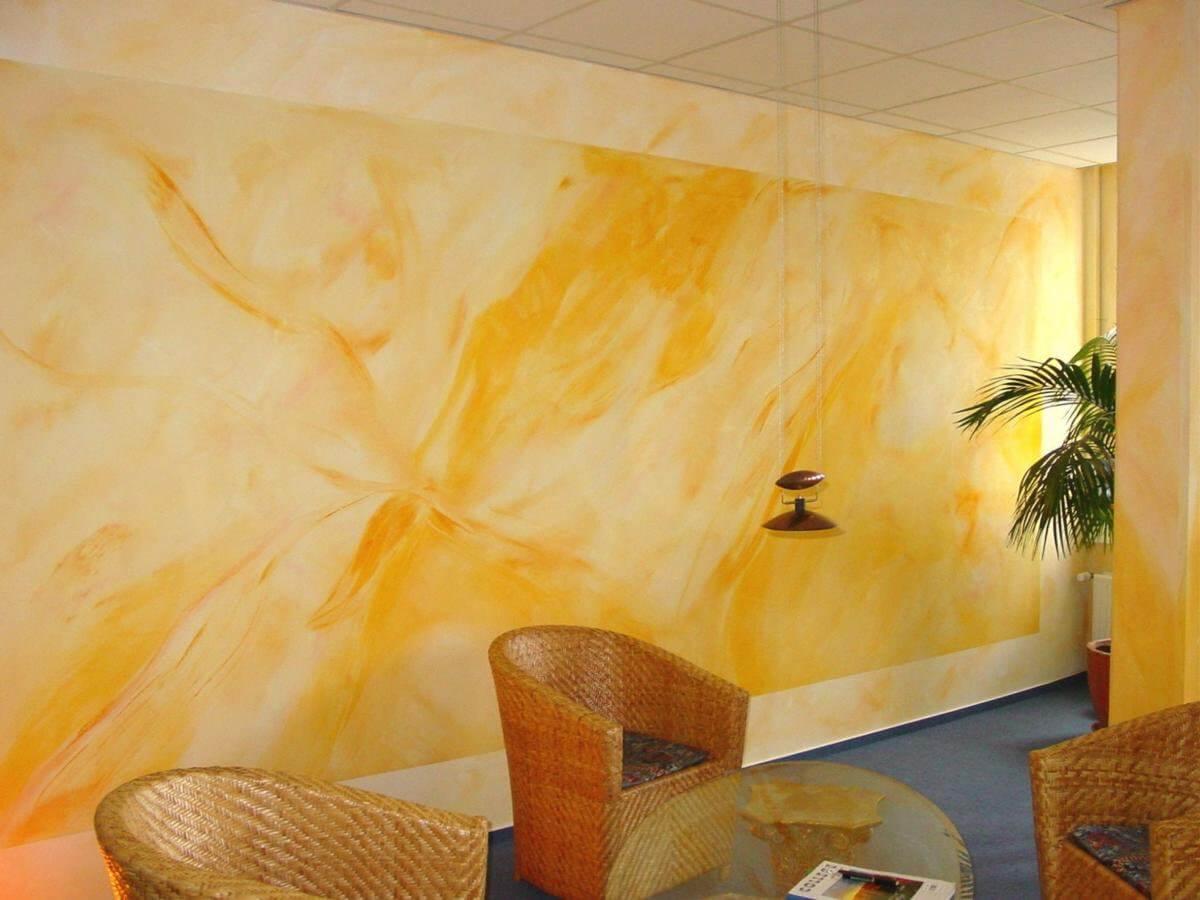 Покраска стен узорами-5618