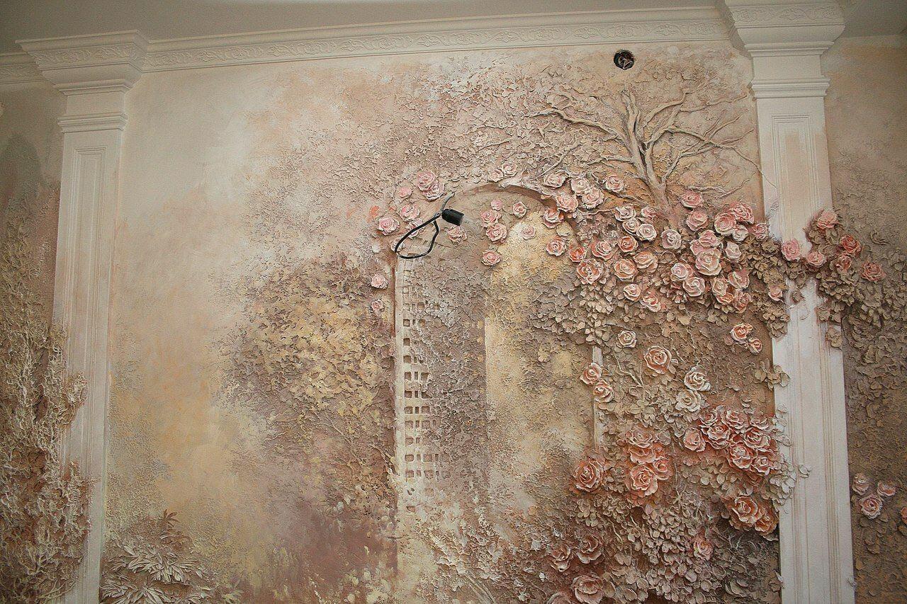 декоративная лепка на стенах фото работы необходимо сесть