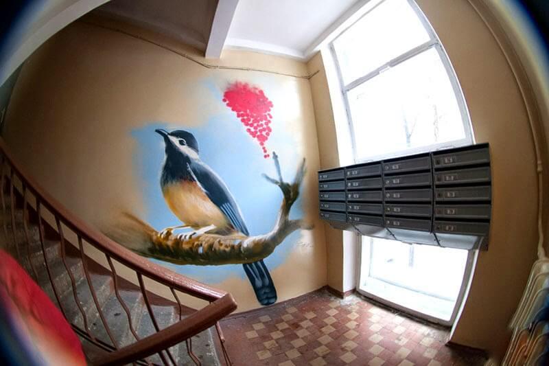 Роспись стен в подъезде-122