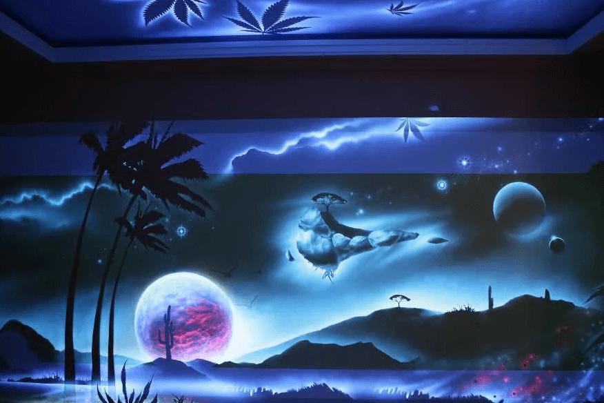 Техника светящейся росписи