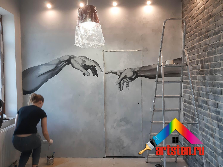 процесс росписи стен поэтапно -4959