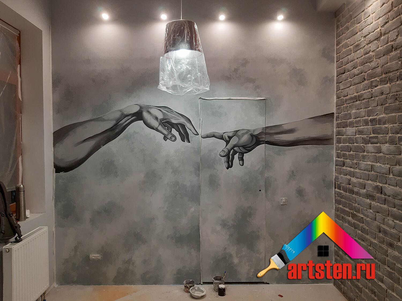 процесс росписи стен поэтапно -34959