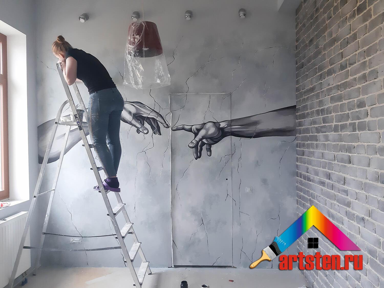 процесс росписи стен поэтапно -58