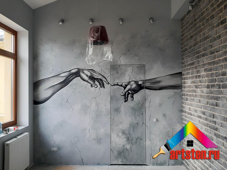 процесс росписи стен поэтапно -39495