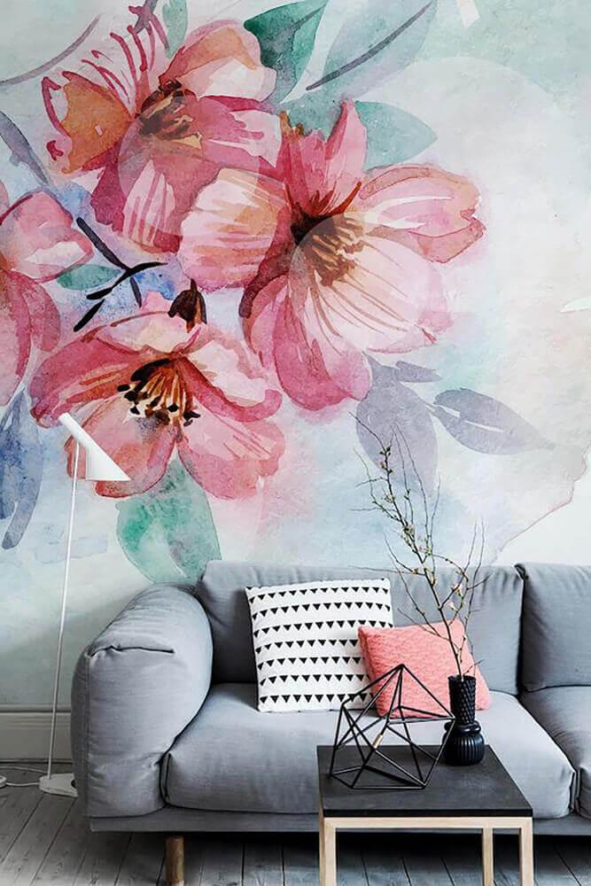 Акварельная техника росписи стен фото