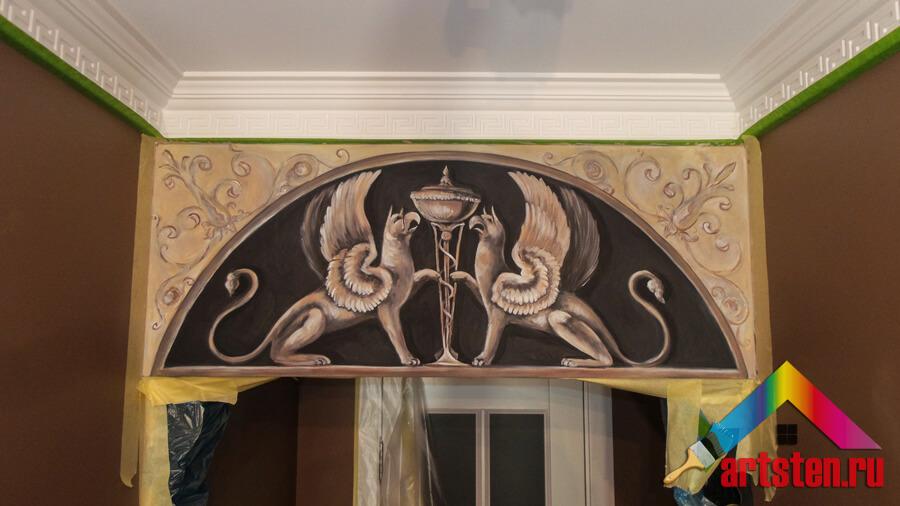 Орнаментальная техника живописи Грифоны фото
