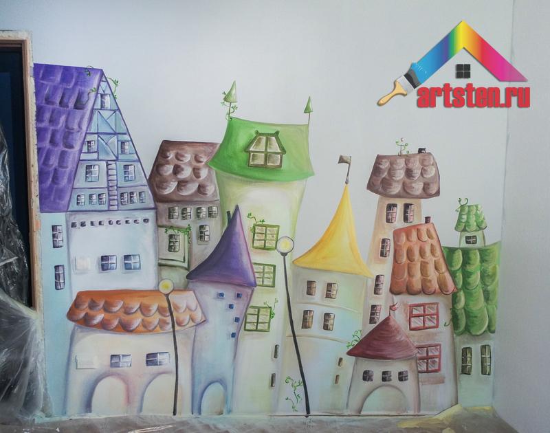 Роспись стен в детской  для малыша