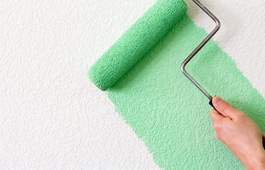 Покраска стен и потолка валиком СПб цены