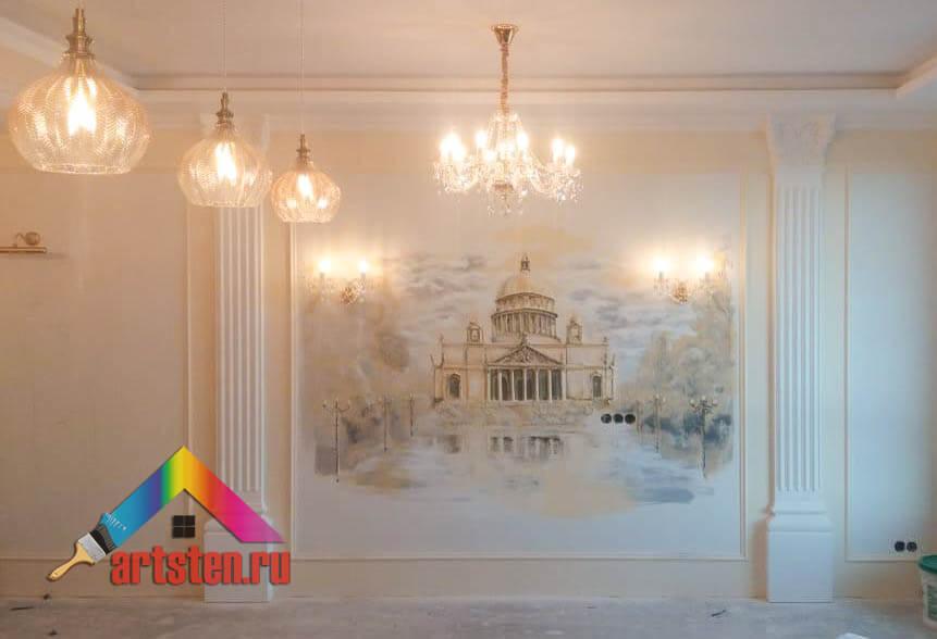 Объемная роспись стен фото 4