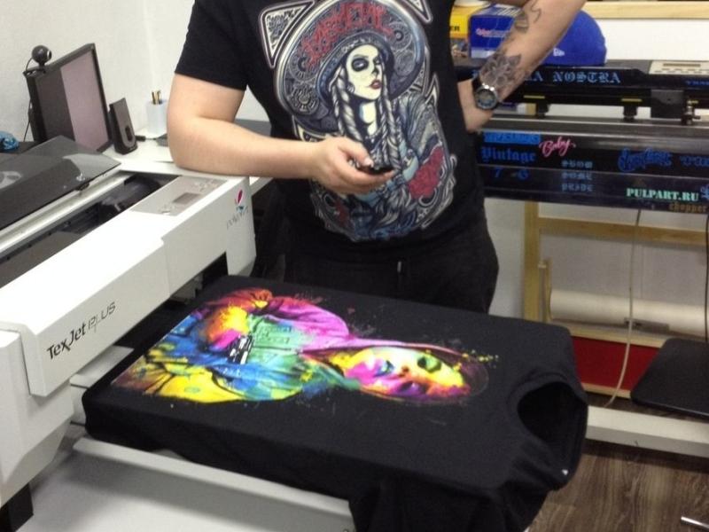 футболка методом прямой печати